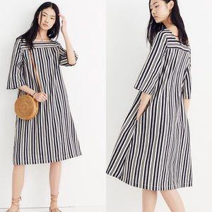 Madewell Square Neck Midi Dress